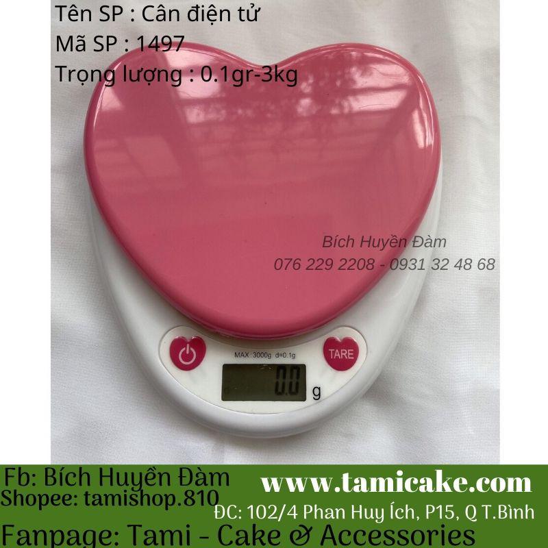 Cân điện tử- Cân trái tim màu hồng nổi 3KG