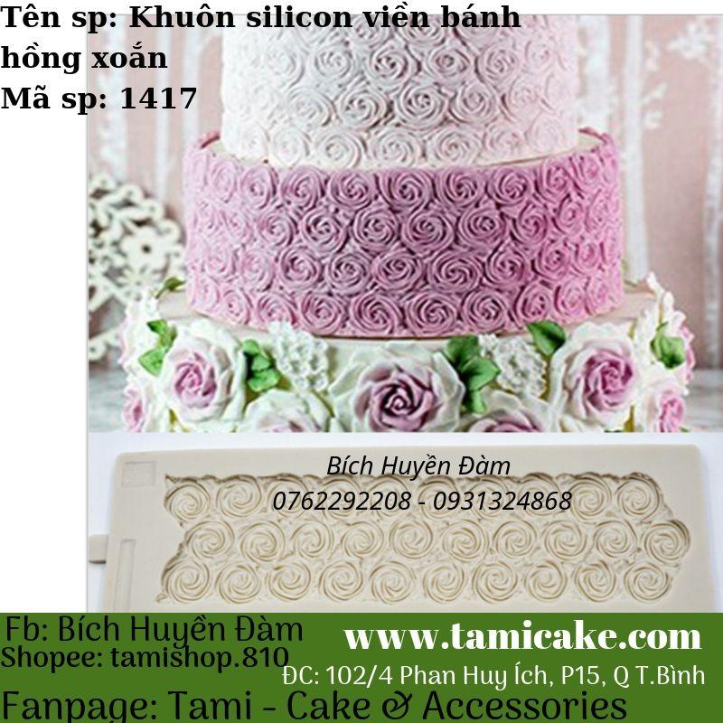 Khuôn silicon viền bánh kiểu hồng xoắn 1417