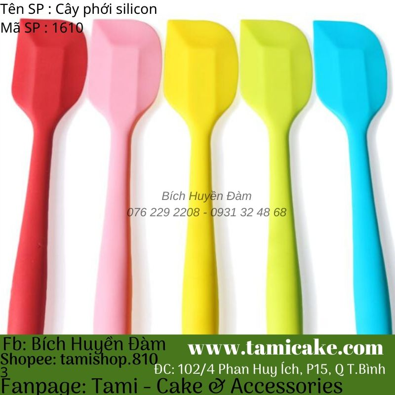 Cây vét bột silicon spatula 1510