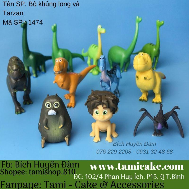 Phụ kiện trang trí- Bộ khủng long và Tarzan