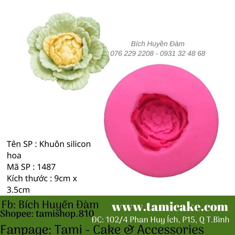 Khuôn silicon hoa bắp cải 1487