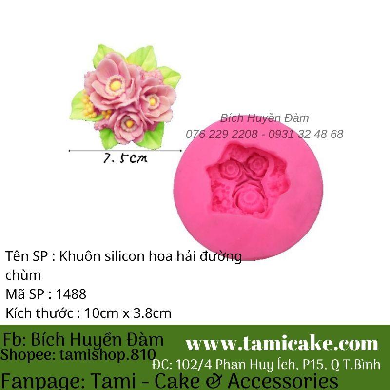 Khuôn silicon hoa hải đường 1488