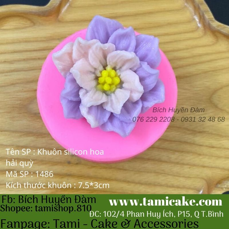 Khuôn silicon hoa hải quỳ 1486