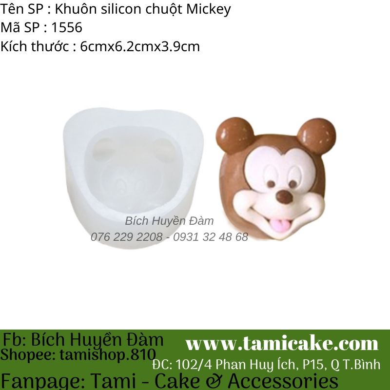 Khuôn silicon chuột Mickey 1556