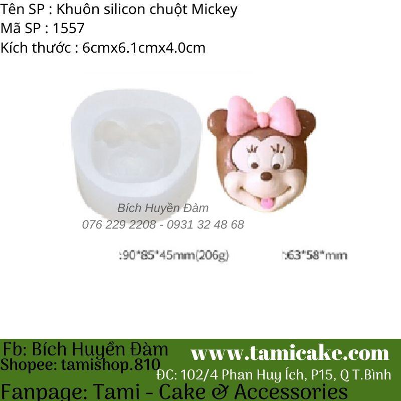 Khuôn silicon chuột Minnie 1557