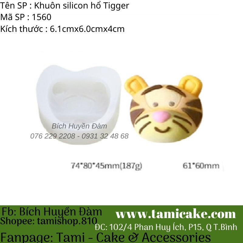 Khuôn silicon Hổ Tiger 1560