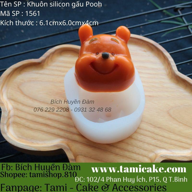 Khuôn silicon gấu Pooh 1561