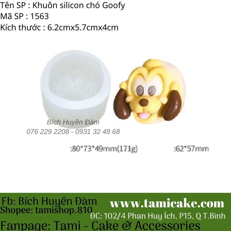 Khuôn silicon chó Goofy 1563