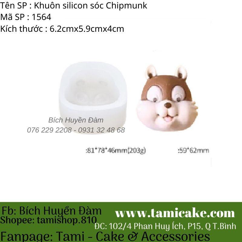 Khuôn silicon Sóc Chipmunk 1564