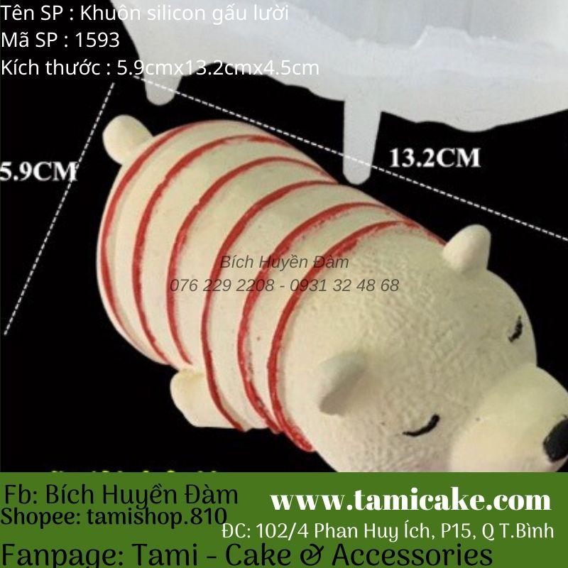Khuôn silicon gấu lười 1593