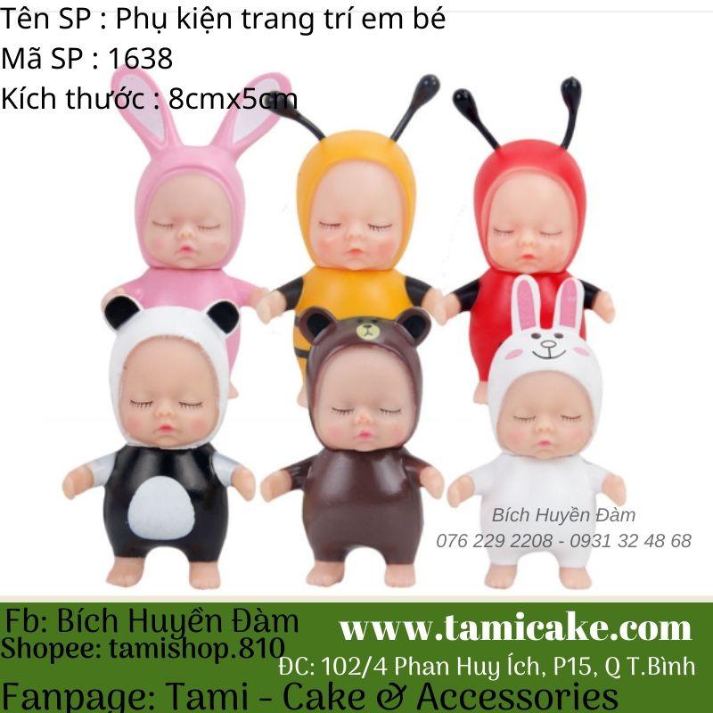 Phụ kiện trang trí - Em bé set 4 baby