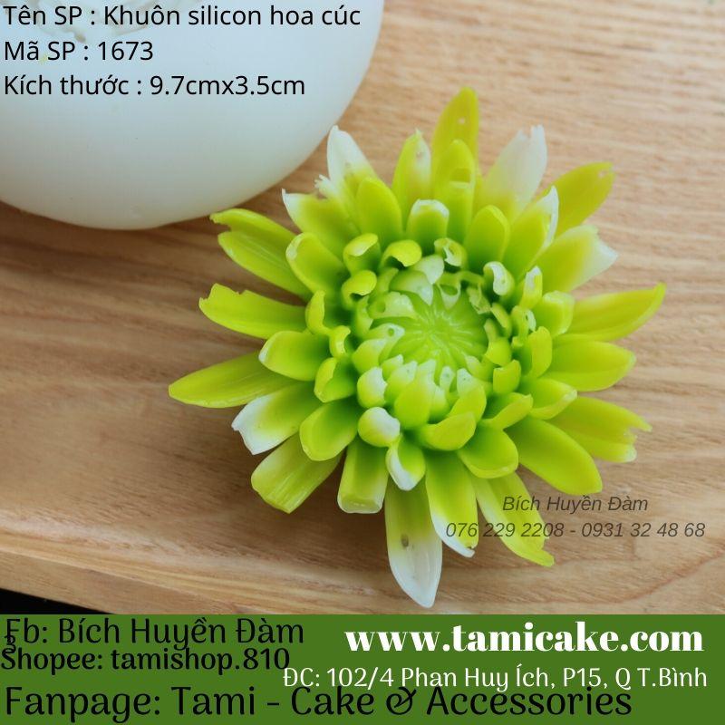 Khuôn silicon hoa cúc 1673