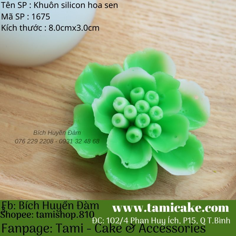 Khuôn silicon hoa sen 1675
