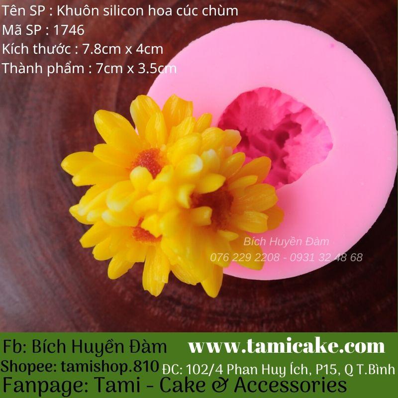 Khuôn silicon hoa cúc chùm 1746