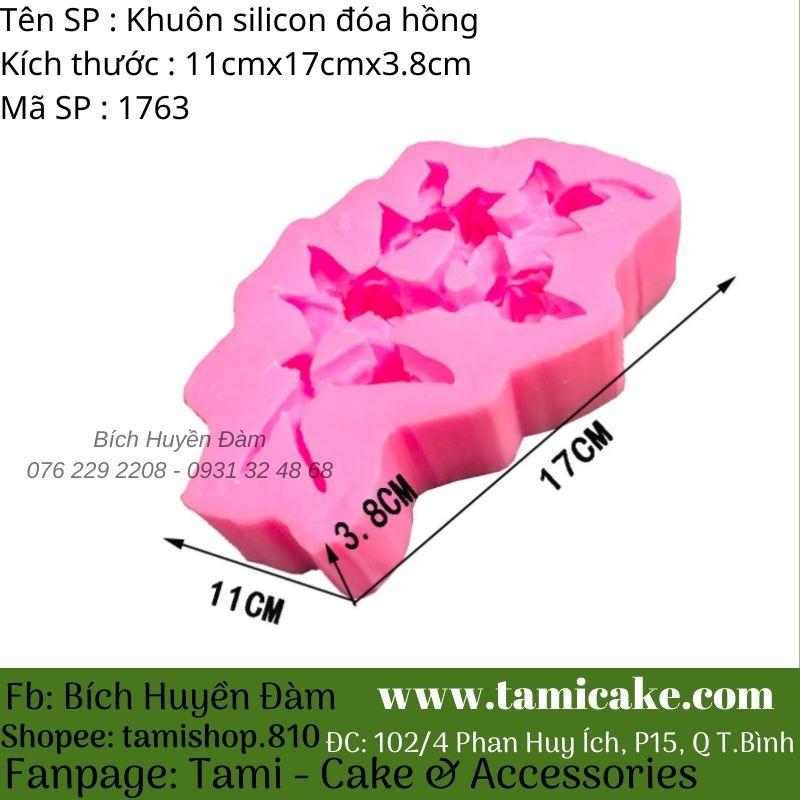 Khuôn silicon đóa hồng 1763