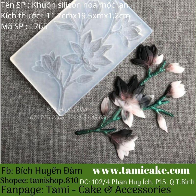 Khuôn silicon hoa mộc lan 1765