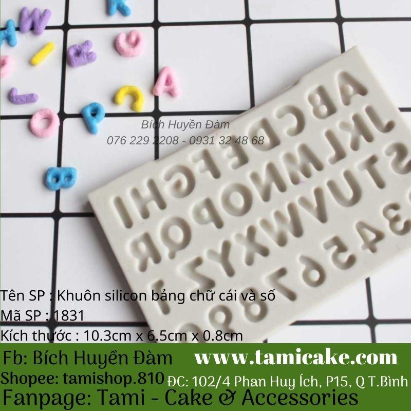 Khuôn silicon bảng chữ cái và số 1831