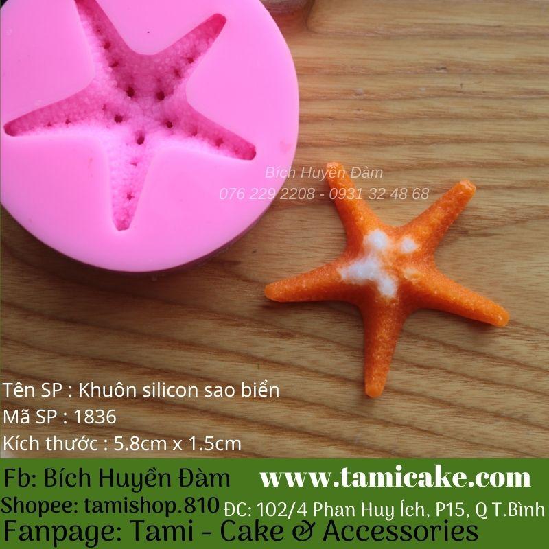 Khuôn silicon sao biển 1836