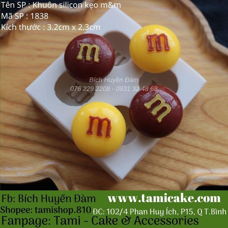 Khuôn silicon kẹo m&m 1838
