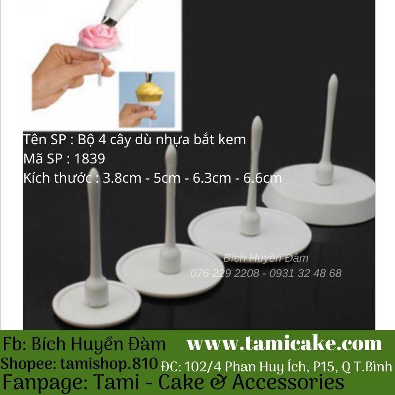 Bộ 4 dù nhựa bắt kem