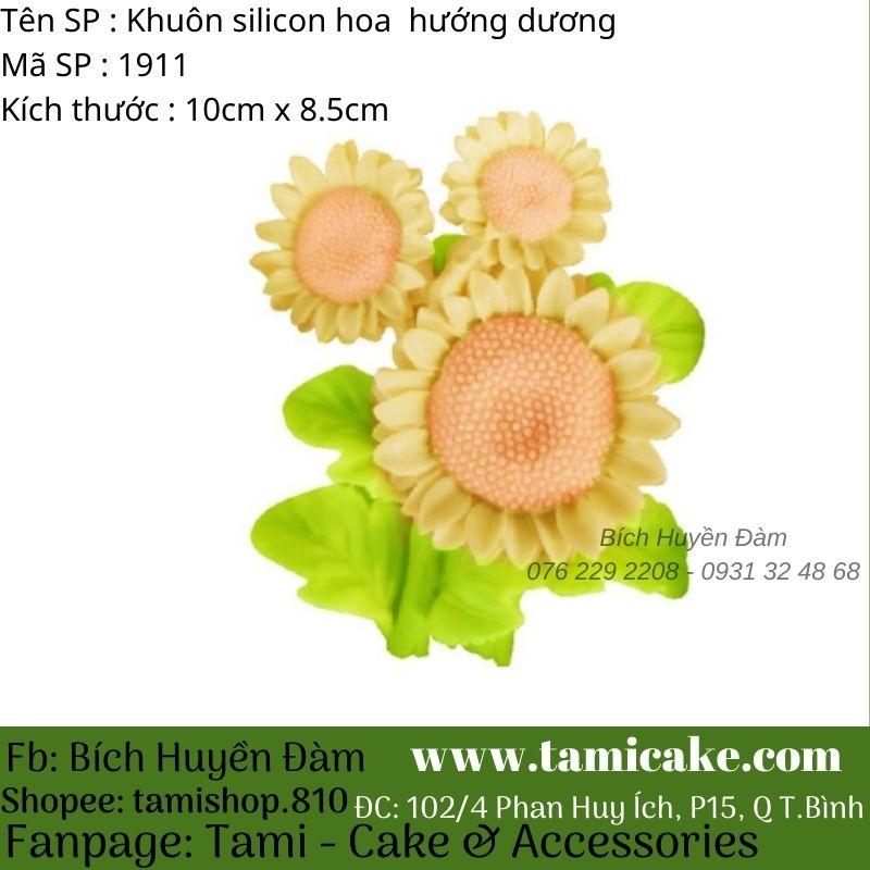 Khuôn silicon hoa hướng dương Nhật 1911