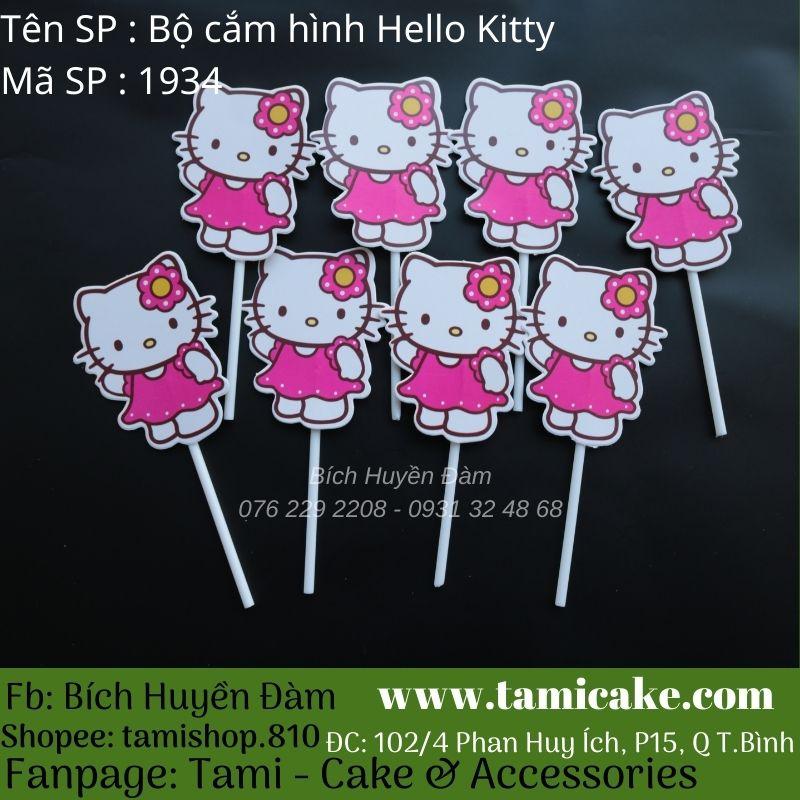 Bộ que cắm hình Hello Kitty