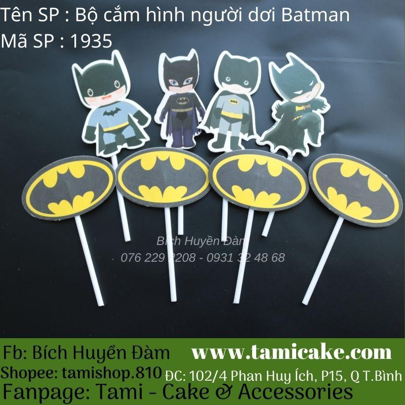 Bộ que cắm hình người dơi Batman 1935