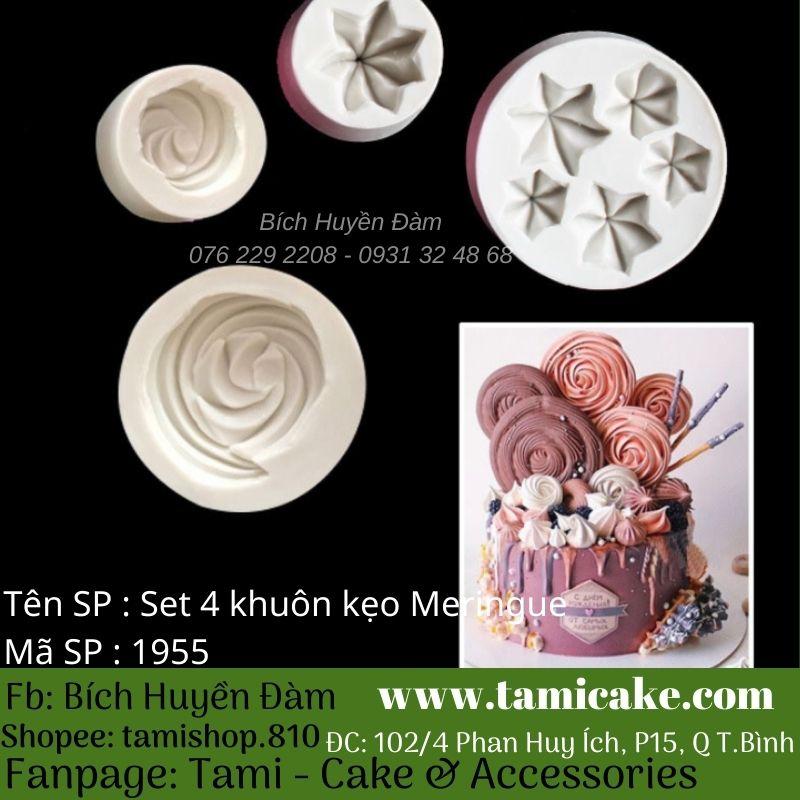 Set 4 khuôn kẹo trang trí Meringue 1955