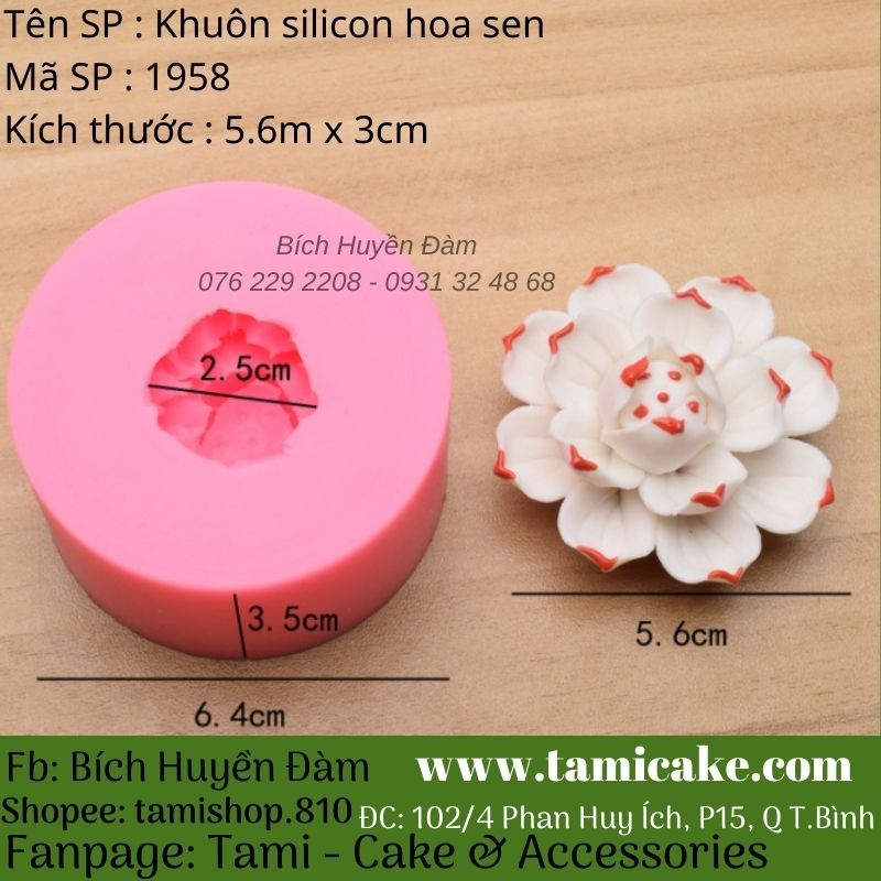 Khuôn silicon hoa sen 1958