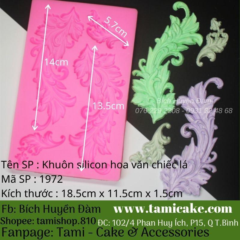 Khuôn silicon hoa văn chiếc lá 1972