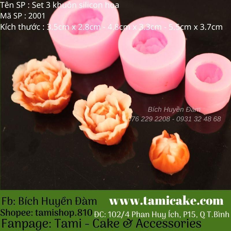 Set 3 khuôn hoa silicon