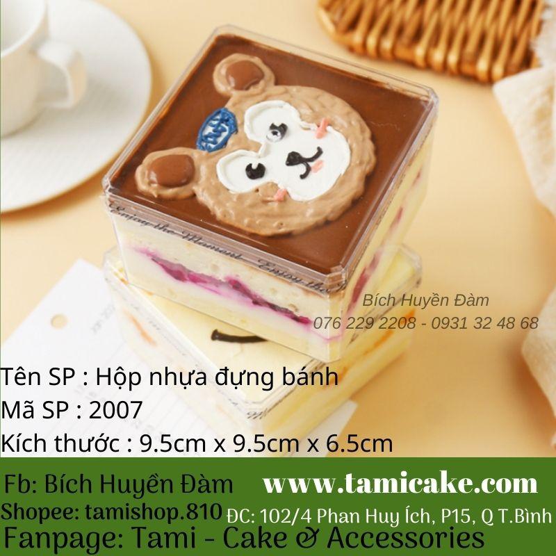 Set 10 hộp nhựa đựng bánh