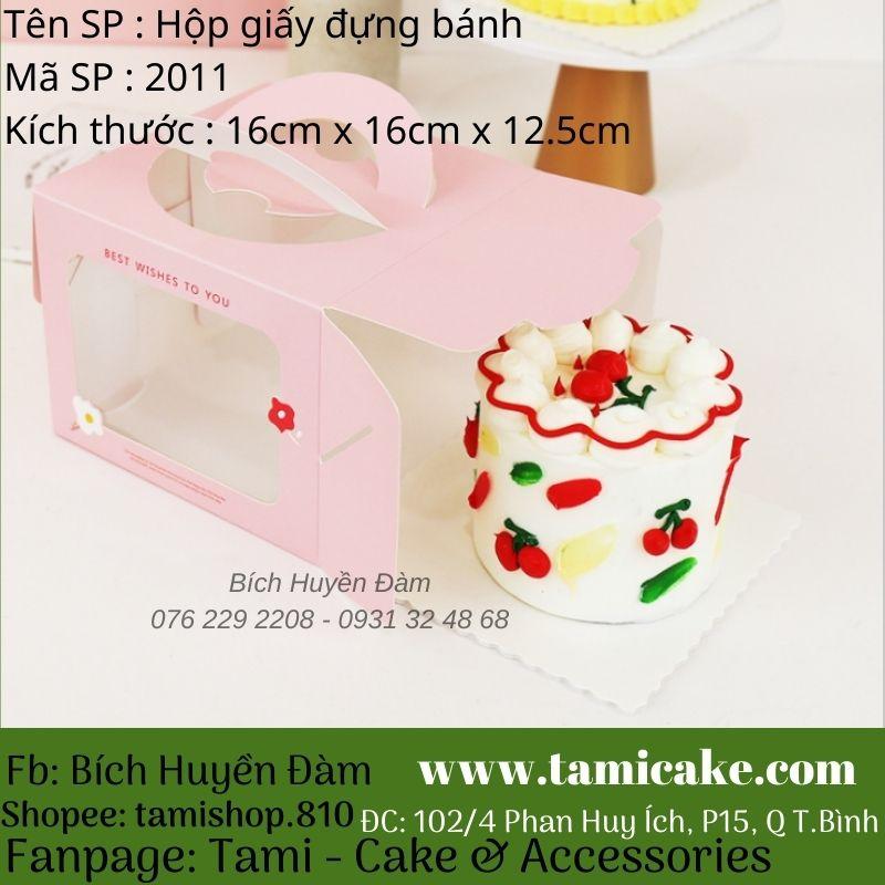 Set 5 hộp giấy hoa cúc đựng bánh Bento