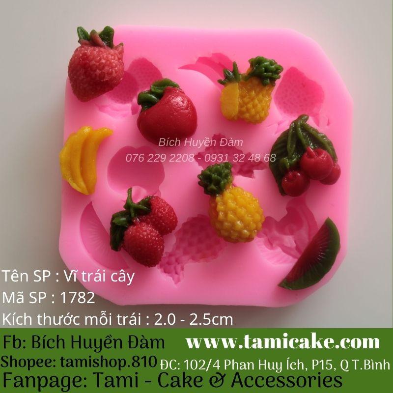 Khuôn silicon vĩ trái cây 1782