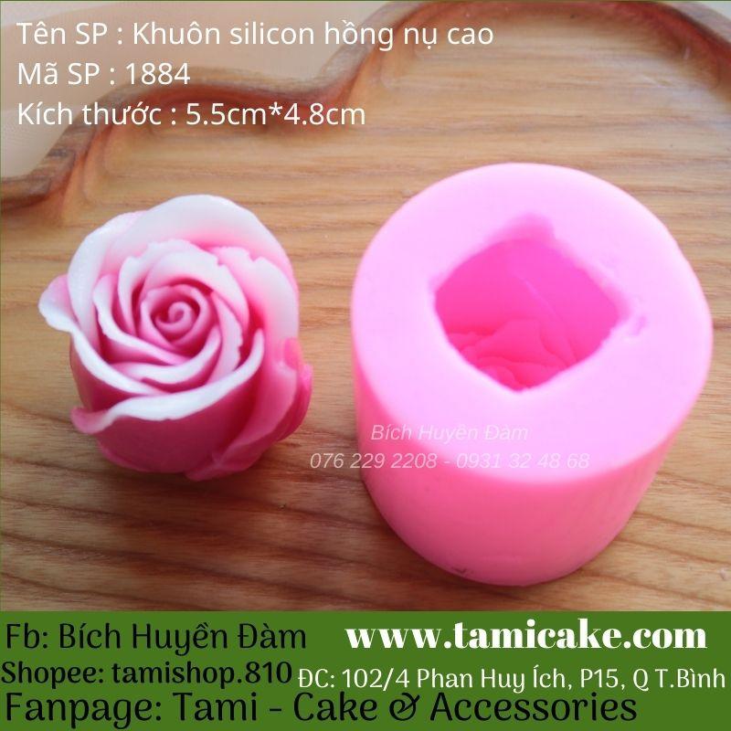 Khuôn silicon hoa hồng nụ cao 1884