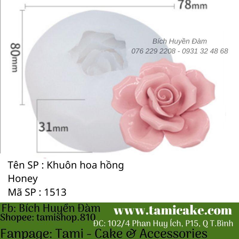 Khuôn silicon hoa hồng honey 1513