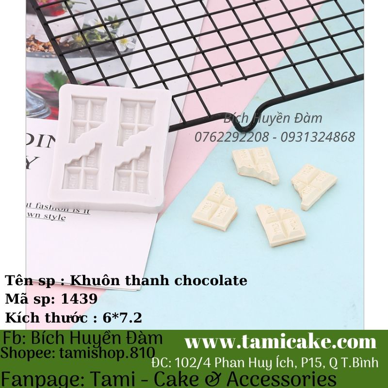 Khuôn silicon thanh chocolate 1439