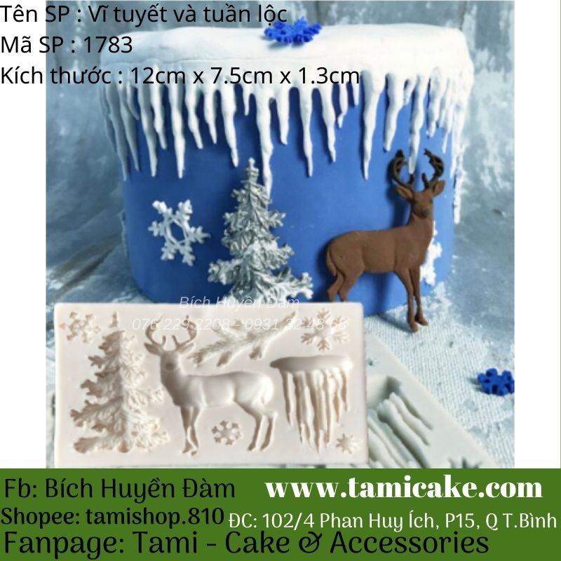 Khuôn silicon vĩ băng tuyết và tuần lộc 1783