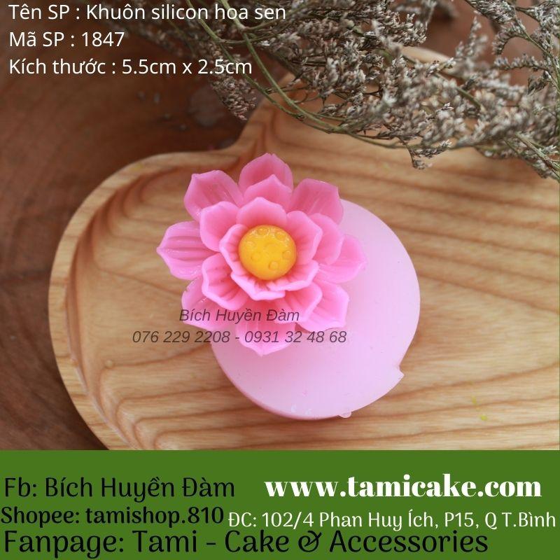 Khuôn silicon hoa sen 1847
