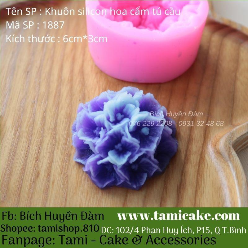 Khuôn silicon hoa cẩm tú cầu 1887