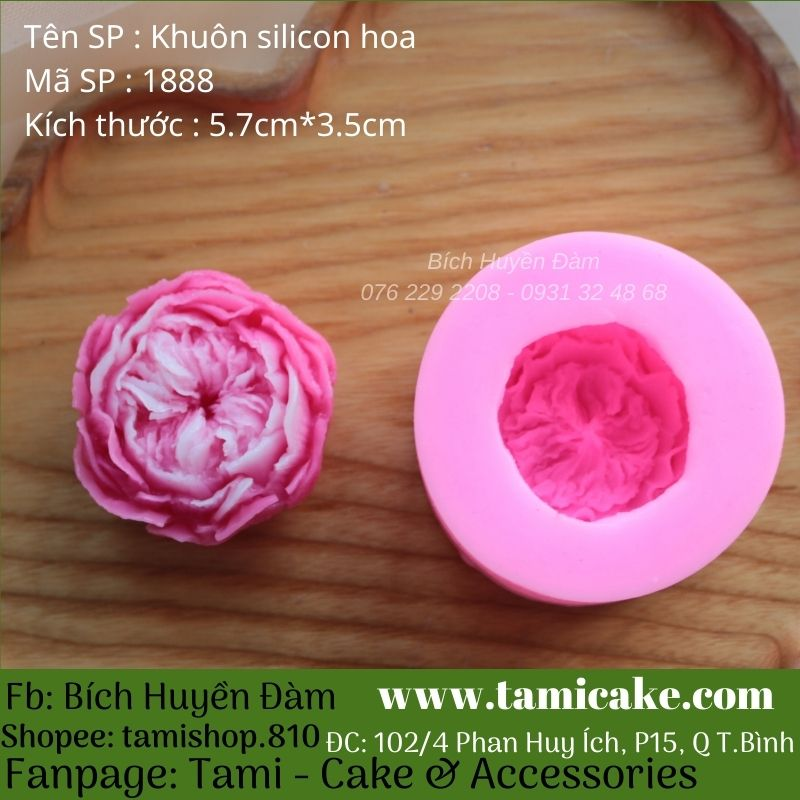 Khuôn silicon hoa hồng anh 1888