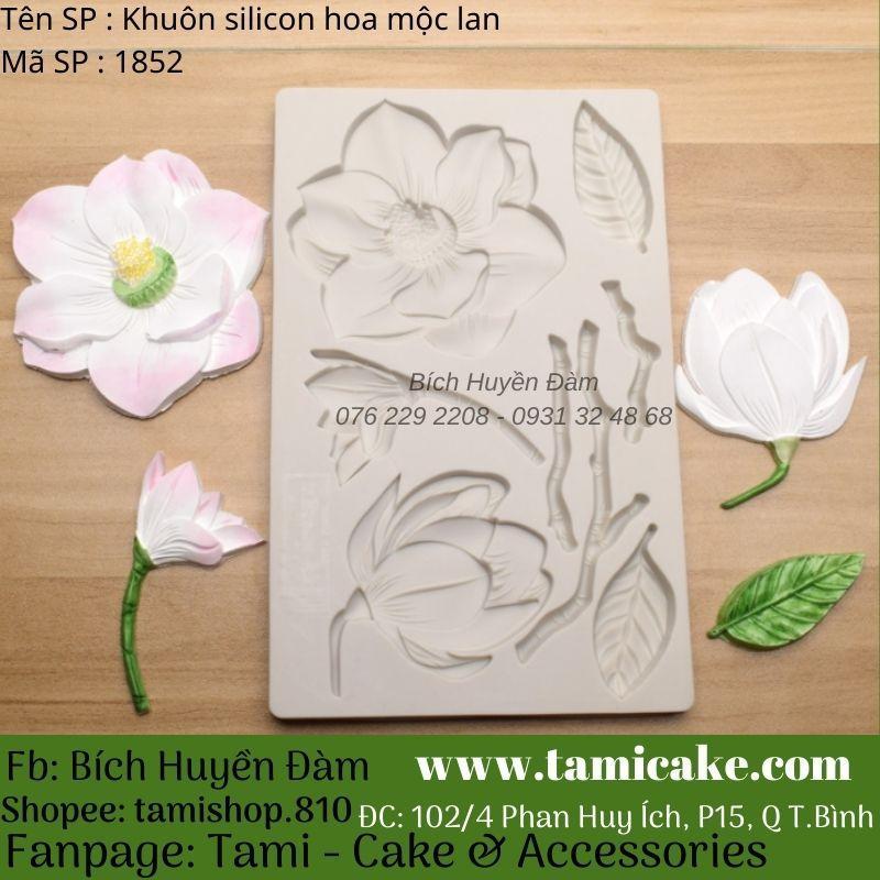 Khuôn silicon hoa mộc lan 1852