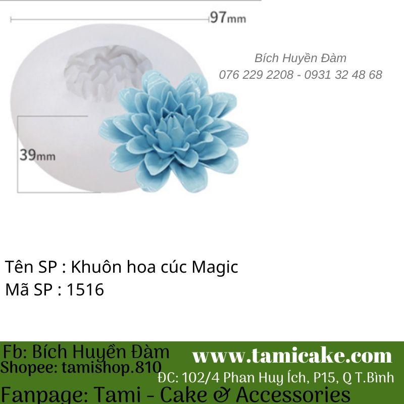 Khuôn silicon hoa cúc Magic 1516