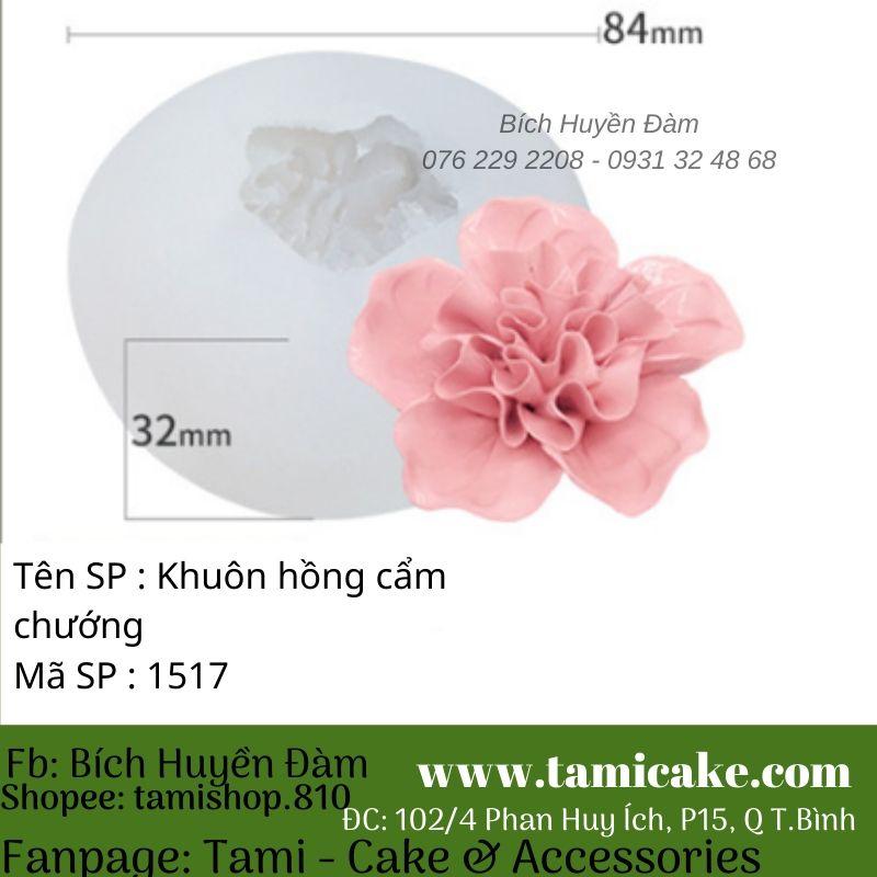 Khuôn silicon hoa hồng cẩm chướng 1517