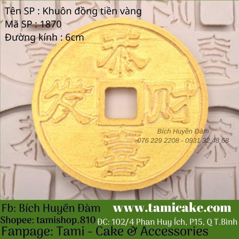 Khuôn silicon Đồng tiền vàng 1780