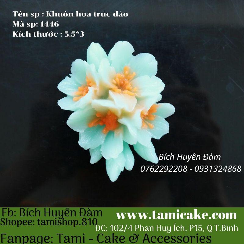 Khuôn silicon hoa Trúc đào 1446