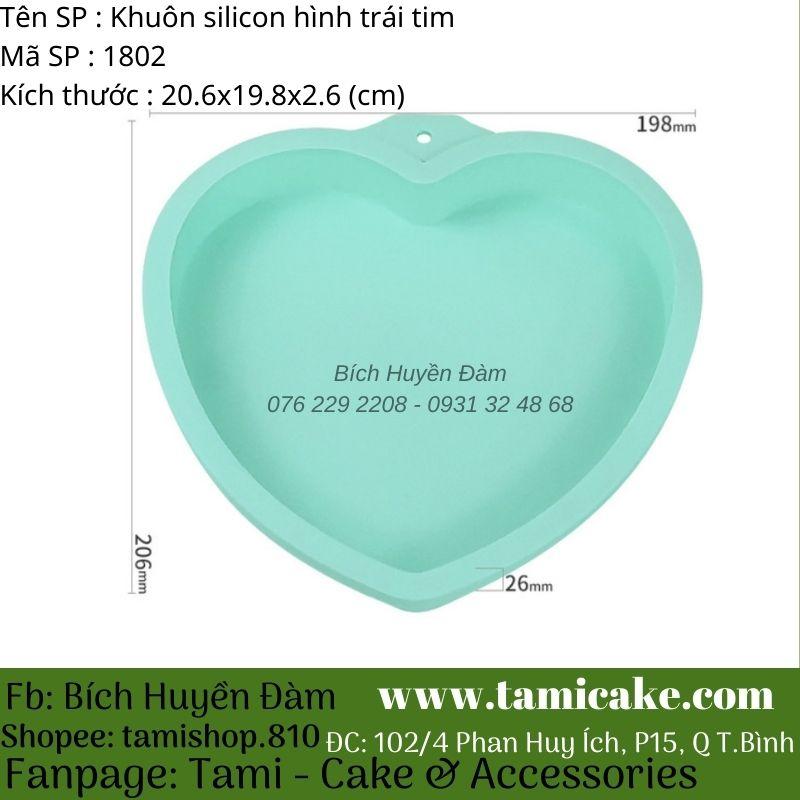 Khuôn silicon hình trái tim 1802