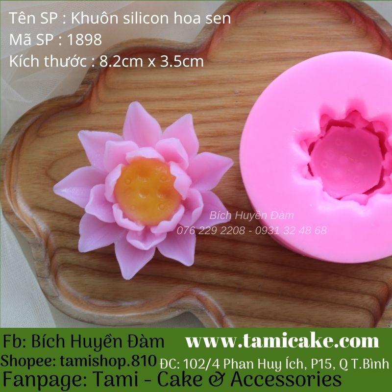Khuôn silicon hoa sen 1898