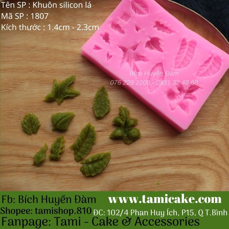 Khuôn silicon nhiều loại lá 1807