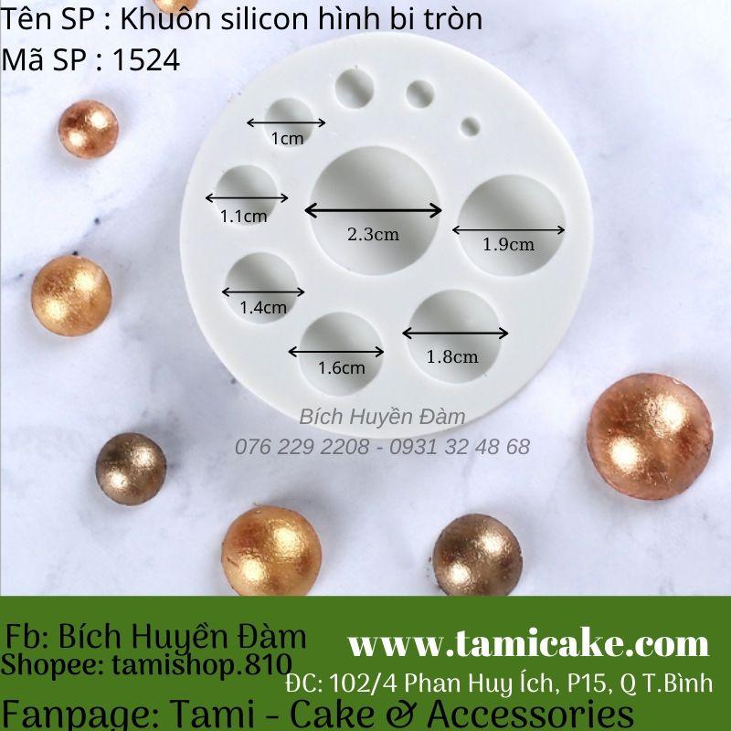Khuôn silicon hình bi tròn 1524